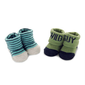 New Carters Baby Boy Newborn 2-pk Booties Socks
